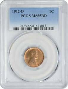 Click now to see the BUY IT NOW Price! 1912 D LINCOLN CENT MS65RD PCGS