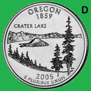 2005 D OREGON  QUARTER 50 STATE STATEHOOD  DENVER   UNC 2ND