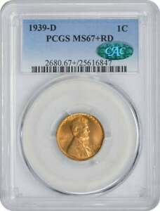 Click now to see the BUY IT NOW Price! 1939 D LINCOLN CENT MS67 RD PCGS  CAC