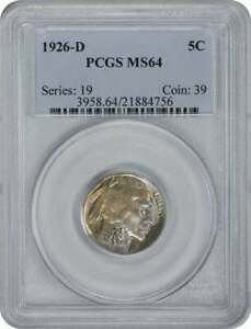 Click now to see the BUY IT NOW Price! 1926 D BUFFALO NICKEL MS64 PCGS
