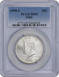 Click now to see the BUY IT NOW Price! 1998 S KENNEDY HALF SMS SP69 PCGS SPECIAL MINT STATE 69