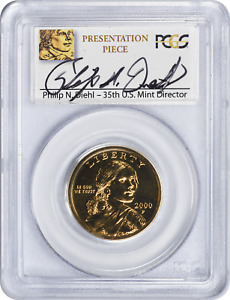 Click now to see the BUY IT NOW Price! 2000 P SACAGAWEA DOLLAR GOODACRE PRESENTATION PIECE SP67 PCGS DIEHL SIGNED