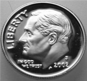 2002 S ROOSEVELT DIME SILVER PROOF