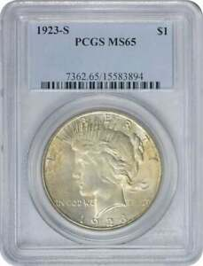 Click now to see the BUY IT NOW Price! 1923 S PEACE DOLLAR MS65 PCGS