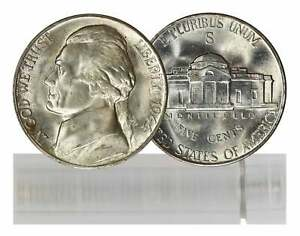 Click now to see the BUY IT NOW Price! 1944 S BU NICKEL ROLL 40 COIN SILVER