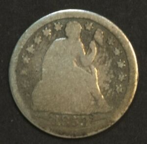 1853 SEATED LIBERTY DIME 10 CENT PIECE SILVER