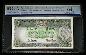 Click now to see the BUY IT NOW Price! 1961 ONE POUND STAR NOTE PREFIX HE82 COOMBS WILSON PCGS CHOICE UNCIRCULATED 64