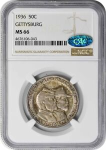 Click now to see the BUY IT NOW Price! GETTYSBURG COMMEMORATIVE HALF DOLLAR 1936 MS66 NGC  CAC