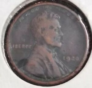 1920 LINCOLN WHEAT CENT   NICE CIRC COIN  AND COLLECTIBLE