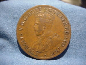 COMMONWEALTH OF AUSTRALIA 1924 ONE PENNY COIN