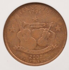 Click now to see the BUY IT NOW Price! ANACS 25C 2002 D TENNESSEE QUARTER REVERSE MISSING CLAD LAYER AU55 RB