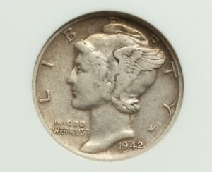 Click now to see the BUY IT NOW Price! 1942/1 D MERCURY DIME ANACS EF 40