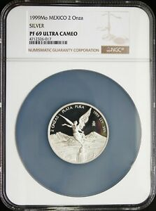 Click now to see the BUY IT NOW Price! MEXICO 1999 SILVER LIBERTAD 2 OZ PROOF NGC PF69 ULTRA CAMEO. KM 614 MINT: 280