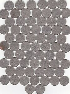 CANADA GEORGE V COMMON DATE NICKELS 1922 36    67 PIECES