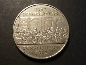 LOWBALL   1982 CONSTITUTION NICKEL DOLLAR POCKET PIECE VF CONDITION