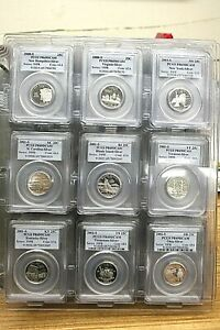 Click now to see the BUY IT NOW Price! SET OF 42 2001 2008 SILVER STATE QUARTERS PCGS PR69DCAM WITH HOLDER