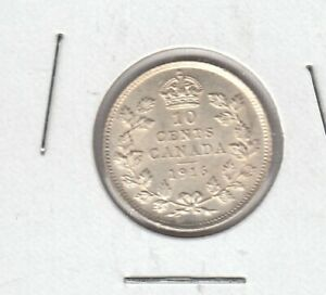 Click now to see the BUY IT NOW Price! 1916 CANADA TEN CENTS SILVER COIN