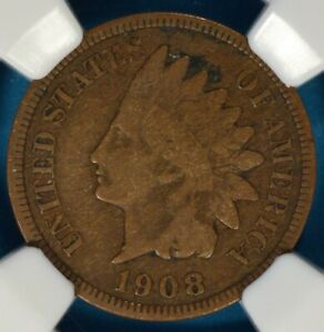 1908 S INDIAN HEAD CENT NGC VF20BN  TOUGHER DATE/MINT NICE LOOKING EXAMPLE