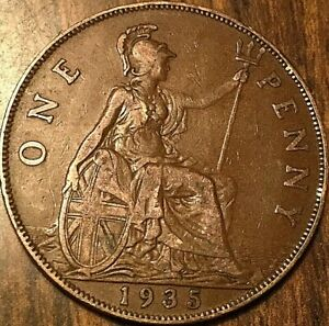 1935 UK GREAT BRITAIN ONE PENNY