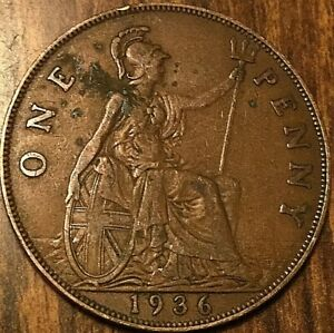 1936 UK GREAT BRITAIN ONE PENNY