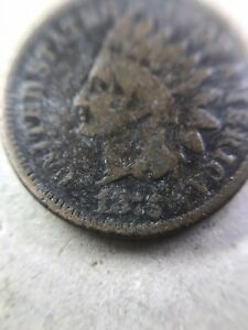 1875 INDIAN HEAD PENNY / CENT / COPPER