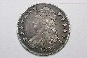 Click now to see the BUY IT NOW Price! 1827 CAPPED BUST HALF DOLLAR SQUARE BASE 2 XF
