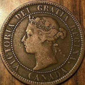 1887 CANADA LARGE CENT PENNY 1 CENT