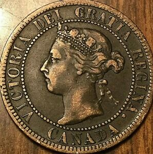 1901 CANADA LARGE CENT PENNY LARGE 1 CENT