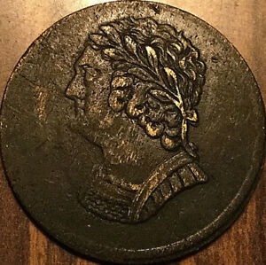 1820 LOWER CANADA BUST AND HARP HALFPENNY TOKEN