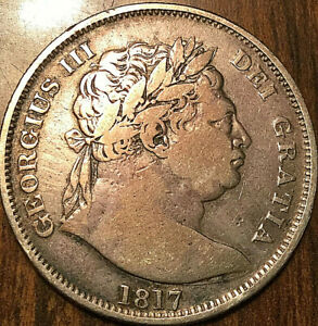 1817 GREAT BRITAIN SILVER GEO III HALF CROWN