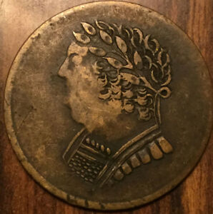 1820 LOWER CANADA HALF PENNY TOKEN BUST AND HARP   GREAT EXAMPLE