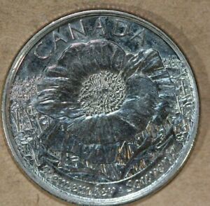 CANADA 2015 25 CENTS POPPYS FOREIGN COIN