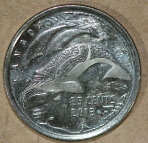CANADA 2013 25 CENTS WHALES FOREIGN COIN
