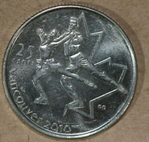 CANADA 2008 25 CENTS FIGURE SKATING FOREIGN COIN