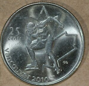 CANADA 2009 25 CENTS SPEED SKATING FOREIGN COIN