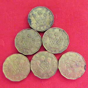 LOT OF 22  UK  BRITISH 3 PENCE 1940   1945 SOLD EACH COMBINED SHIPPING.   949I
