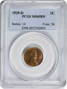 Click now to see the BUY IT NOW Price! 1929 D LINCOLN CENT MS65RD PCGS