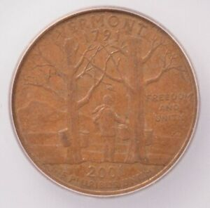 Click now to see the BUY IT NOW Price! ICG 25C 2001 D VERMONT QUARTER REVERSE MISSING CLAD LAYER AU58 BN