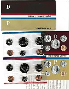 1984 U.S. UNCIRCULATED MINT SET IN OGP W/CARDBOARD PROTECTOR & COMMENT CARD