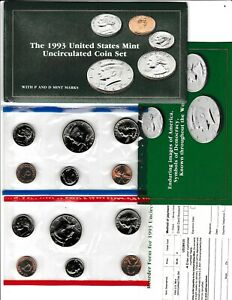 1993 U.S. UNCIRCULATED MINT SET IN OGP W/CARDBOARD PROTECTOR & RE ORDER CARD