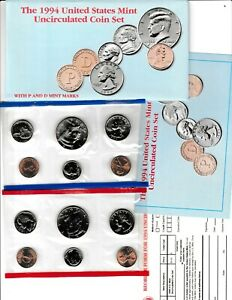 1994 U.S. UNCIRCULATED MINT SET IN OGP W/CARDBOARD PROTECTOR & RE ORDER CARD
