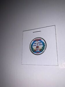 2000 D MARYLAND STATEHOOD COMMEMORATIVE QUARTER WITH PAINTED OBVERSE