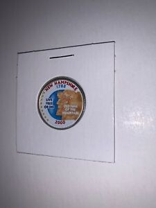 2000 P NEW HAMPSIRE STATEHOOD COMMEMORATIVE QUARTER WITH PAINTED OBVERSE