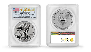 Click now to see the BUY IT NOW Price! 2019 S SILVER EAGLE ENHANCED REVERSE PROOF BALTIMORE LABEL 19XE PCGS PR70