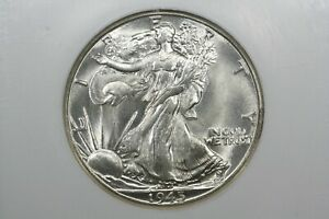 Click now to see the BUY IT NOW Price! 1945 D WALKING LIBERTY HALF GEM BU NGC MS 65