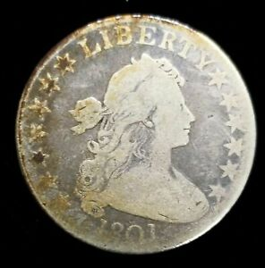 Click now to see the BUY IT NOW Price! 1801 DRAPED BUST HALF DOLLAR O 102 R4 GOOD