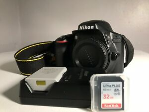 NIKON D3300 24.2 MP DIGITAL SLR CAMERA  BODY  FREE CHARGER BATTERY & SD CARD.