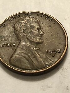 1952 D LINCOLN CENT  DOUBLE DIE WITH   D OVER D   NICE ERROR COIN LOT1