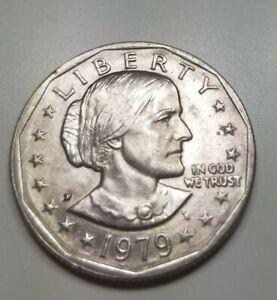 COLLECTIBLE  SUSAN B ANTHONY 1979 $1 DOLLAR WIDE RIM BLOB MINT ERROR COIN