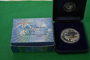 Click now to see the BUY IT NOW Price! 2005 PERTH 1 OZ. LEOPARD SEAL .999 FINE SILVER COIN W/COA & DISPLAY BOX